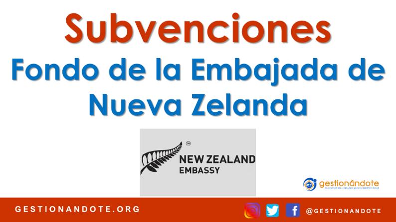Convocatoria del Fondo de la Embajada de Nueva Zelanda