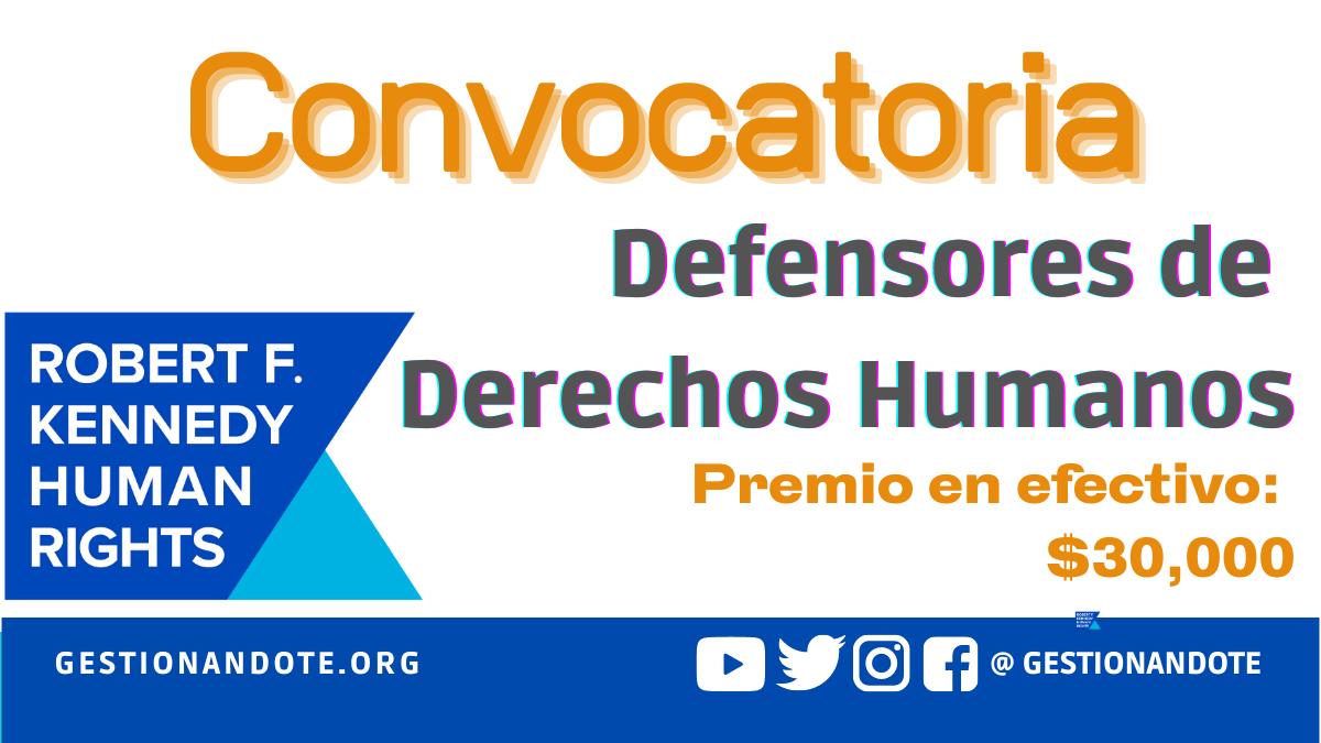 Convocatoria para defensores de derechos humanos