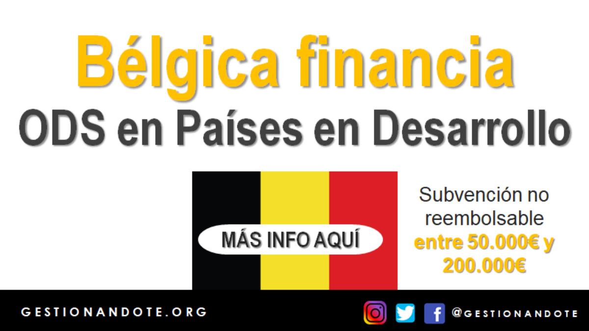 Bélgica financia proyectos ODS en países en desarrollo