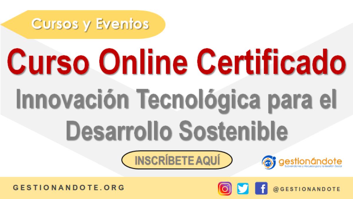 Curso Online en Innovación para el Desarrollo Sostenible
