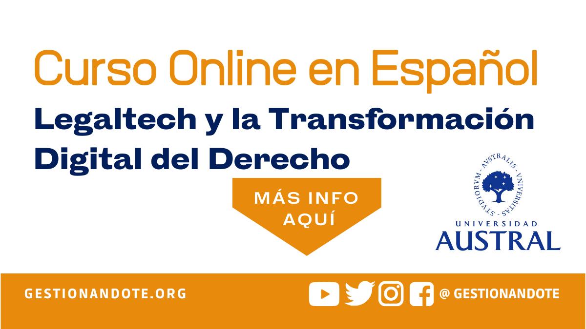 Curso Virtual: Legaltech y la Transformación Digital del Derecho