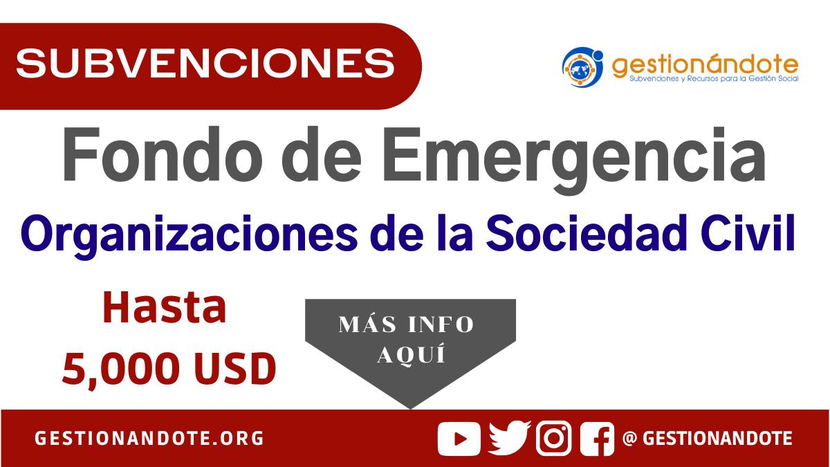 Fondo de Emergencia COVID-19 para Organizaciones de la Sociedad Civil