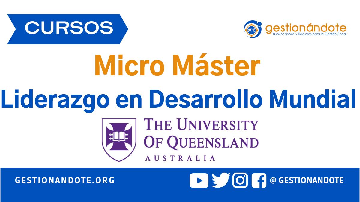 MicroMaster de Liderazgo en Desarrollo – Queensland