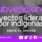 Subvenciones a proyectos comunitarios liderados por indígenas