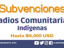 Convocatoria para Subvenciones a Proyectos de Radios Indígenas
