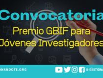 Convocatoria Premio GBIF para Jóvenes Investigadores