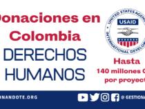 Donaciones en Colombia para Derechos Humanos – USAID