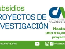 Convocatoria para financiar proyectos de investigación – CAF