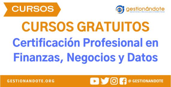 Certificación Profesional en Negocios del Tecnológico de Monterrey