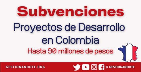 Gobierno Francés financia para iniciativas de desarrollo y paz en Colombia